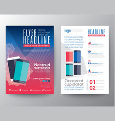 Abstract design template layout flyer brochure vector image