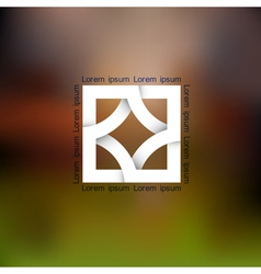 Abstract icon for design vector image