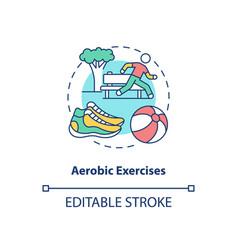 aerobics exercise concept icon vector image