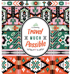 american tribal bright colorful seamless pattern vector image