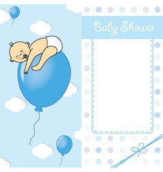 Baby boy birth car vector