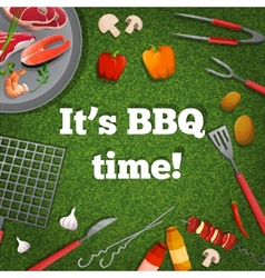 Bbq picnic poster vector image