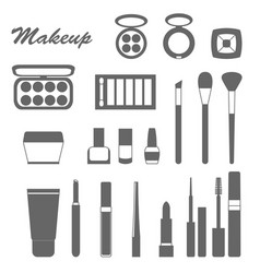 big set of different decorative cosmetics vector image