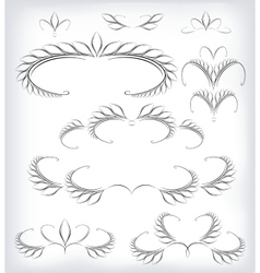 Black and white set a lot of patterns and vector image