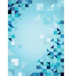 Blue abstract trendy background with triangles vector