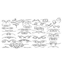 Calligraphic decorative elements in format vector