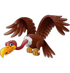 Cartoon vulture flying vector