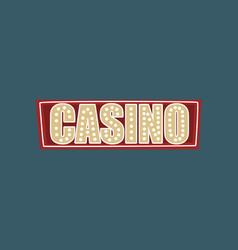 casino retro street signboard vintage banner vector image