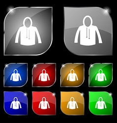 casual jacket icon sign Set of ten colorful vector image
