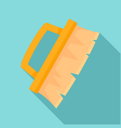 cleaning brush icon flat style vector image