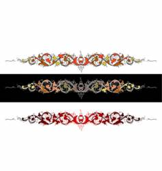 Color baroque all curves separately vector
