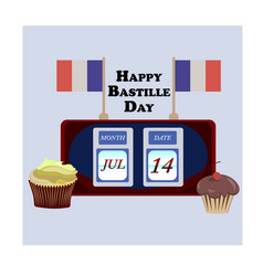 Concept for the french national day bastille day vector
