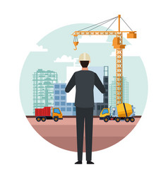 construction engineer cartoon vector image