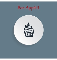 cupcake icons vector image