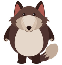cute fox with round body vector image