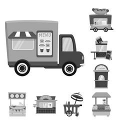 Design service and storefront icon set vector