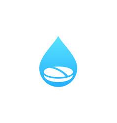 drop medicine logo icon design vector image