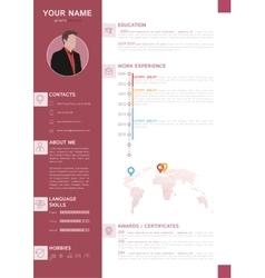 Elegant minimalist style resume - cv template vector
