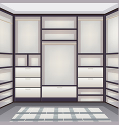 empty storage room realistic vector image