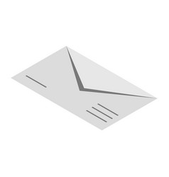 envelope icon isometric style vector image
