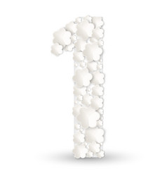 Figure one made of white flowers vector