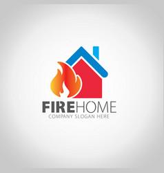 Fire home logo vector
