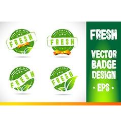 Fresh badge logo vector