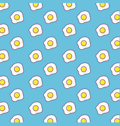 fried eggs background design vector image
