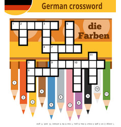 german crossword education game for children vector image