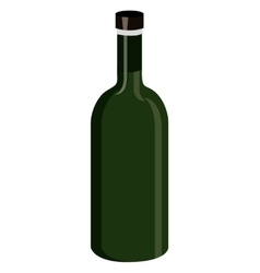 green wine bottle graphic vector image vector image