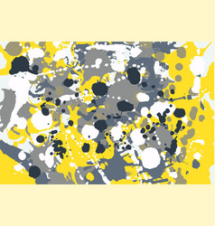 Grey yellow blue white ink splashes camouflage vector
