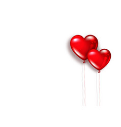 hearts shape red balloon with lace isolated vector image