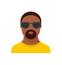 Hip hop man icon flat style vector