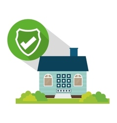Home security policy password button shadow vector