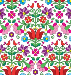 Kalocsai floral emrboidery seamless pattern vector