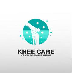 Knee bone logo with care concept healthcare vector