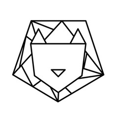 Lion low poly style vector