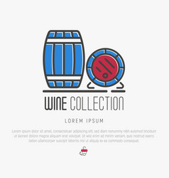 logotype wine and wine making vector image