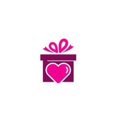 love gift logo icon design vector image