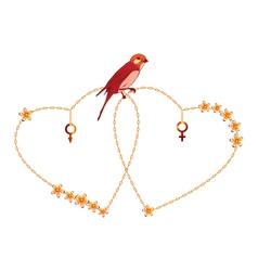 loving hearts vector image