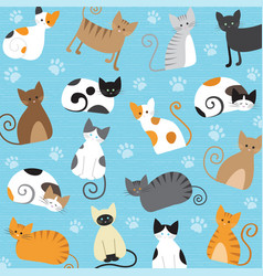 meaw pattern vector image