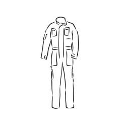 Mens overall mens overalls sketch vector