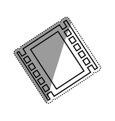 Movie reel isolated vector