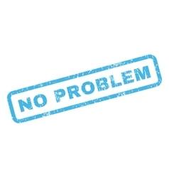 No Problem Rubber Stamp vector image