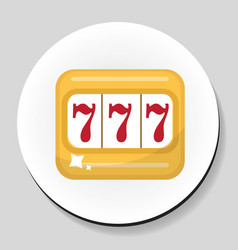 one-armed bandit sticker icon flat style vector image