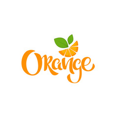 Orange lettering composition for your citrus vector