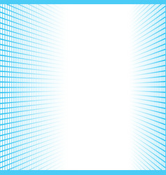 Perspective banner made blue squares tiles vector