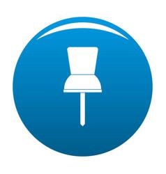 Pin icon blue vector