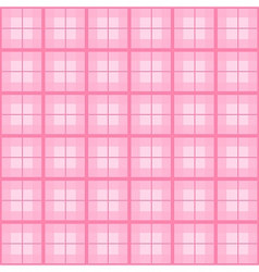 Pink tartan background vector