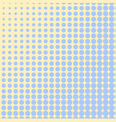 Pop art background blue color turns into yellow vector